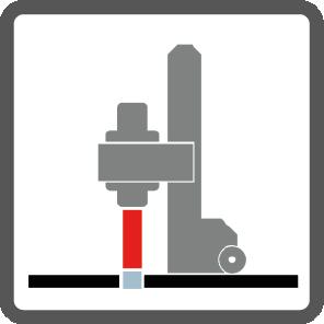 Kernbohrmaschine mit Stativ